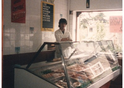 Darren Rogerson as a teenager in the original George's Fish Shop.